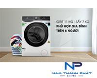 Máy giặt sấy Electrolux 11kg inverter EWW1141AEWA
